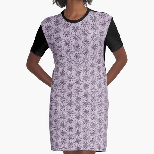 Vintage Rose Graphic T-Shirt Dress