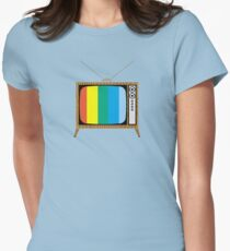 Retro TV Womens Fitted T-Shirt