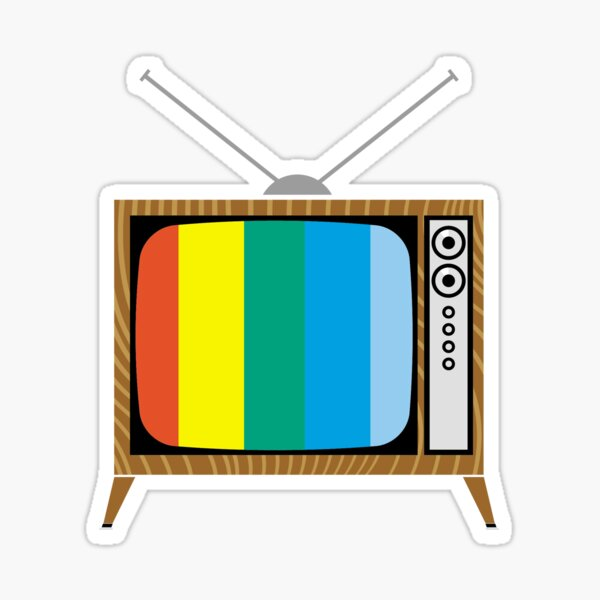 Retro TV Sticker