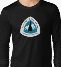 Pacific Crest National Scenic Trail Sign, USA Long Sleeve T-Shirt