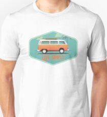 Live Simply - Beach Van Sticker T-Shirt