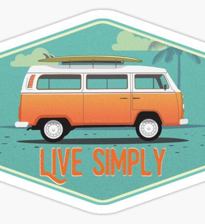 Live Simply - Beach Van Sticker Sticker