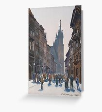 Afternoon at Krakow Greeting Card