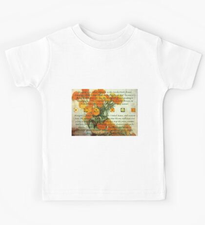 October's Child Birthday Greeting with Marigolds Kids Clothes