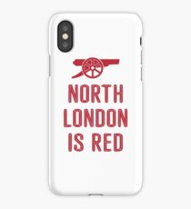 Arsenal FC - North London is Red iPhone Case/Skin
