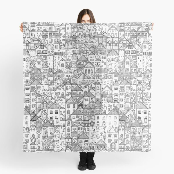 The Town, in black and white Scarf
