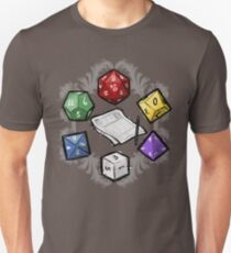 Camiseta unisex RPG DICE set y DICE PATTERN