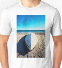 Boat on the beach in watercolor T-Shirt