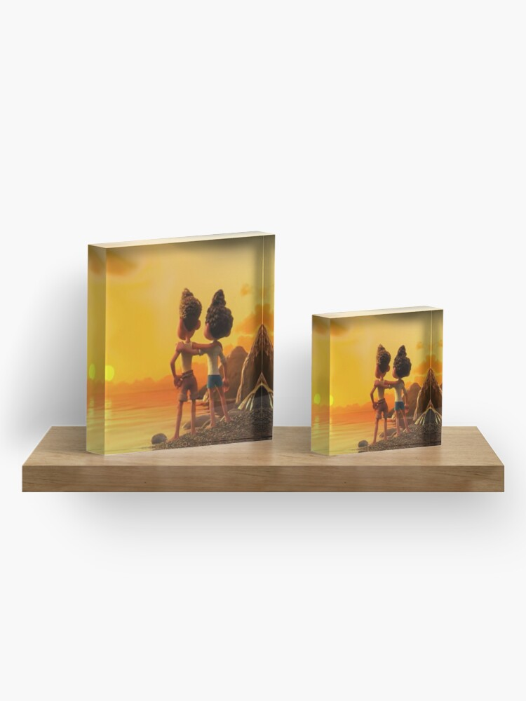 Alternate view of Our friendship never die Acrylic Block