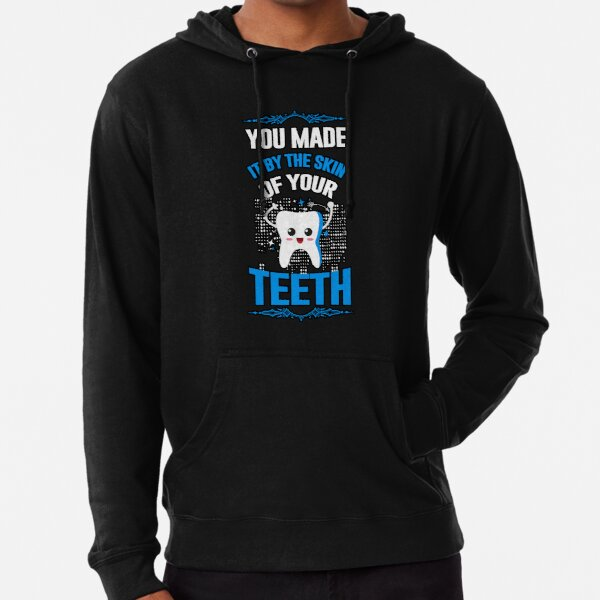 You made it by the skin of your teeth Lightweight Hoodie