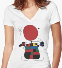 The Smile of the Flamboyant Wings Women's Fitted V-Neck T-Shirt