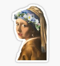 Girl with the pearl earring Sticker