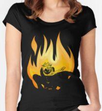 On Fire Tailliertes Rundhals-Shirt