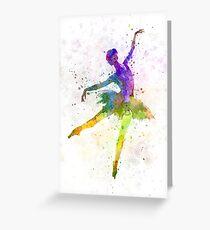 Frau Ballerina Balletttänzer Tanzen Grußkarte