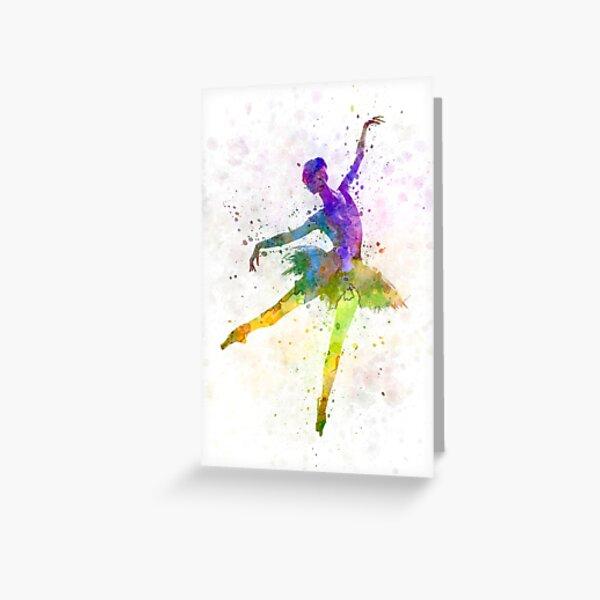 woman ballerina ballet dancer dancing  Greeting Card