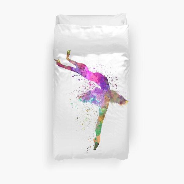 woman ballerina ballet dancer dancing  Duvet Cover