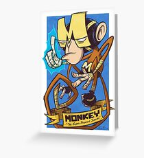 Dial M for Monkey Haymaker Greeting Card