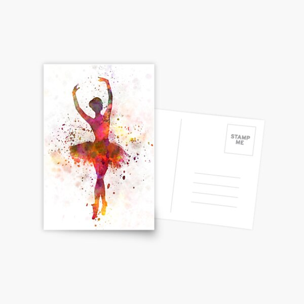 Woman ballerina ballet dancer dancing  Postcard