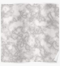 White solid marble Poster