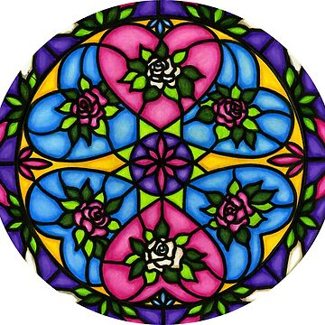 HEARTS AND ROSES MANDALA  by ArtHarmony