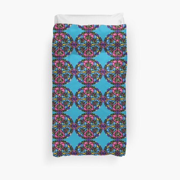 HEARTS AND ROSES MANDALA  Duvet Cover
