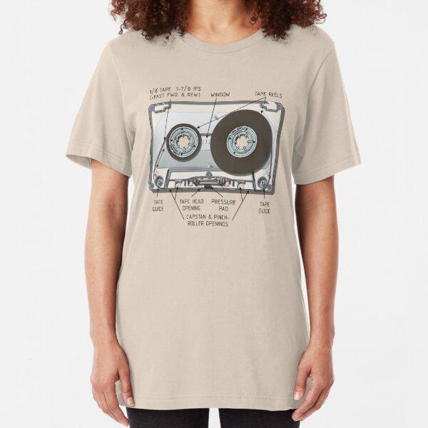 Audio cassette cutaway Slim Fit T-Shirt