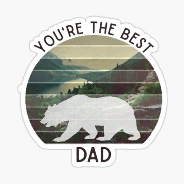 Dad Gift -Tht Best Dad Shirt-Best Dad Gift - Dad Shirt - Fathers Sticker