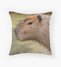 Adult male Capybara Throw Pillow