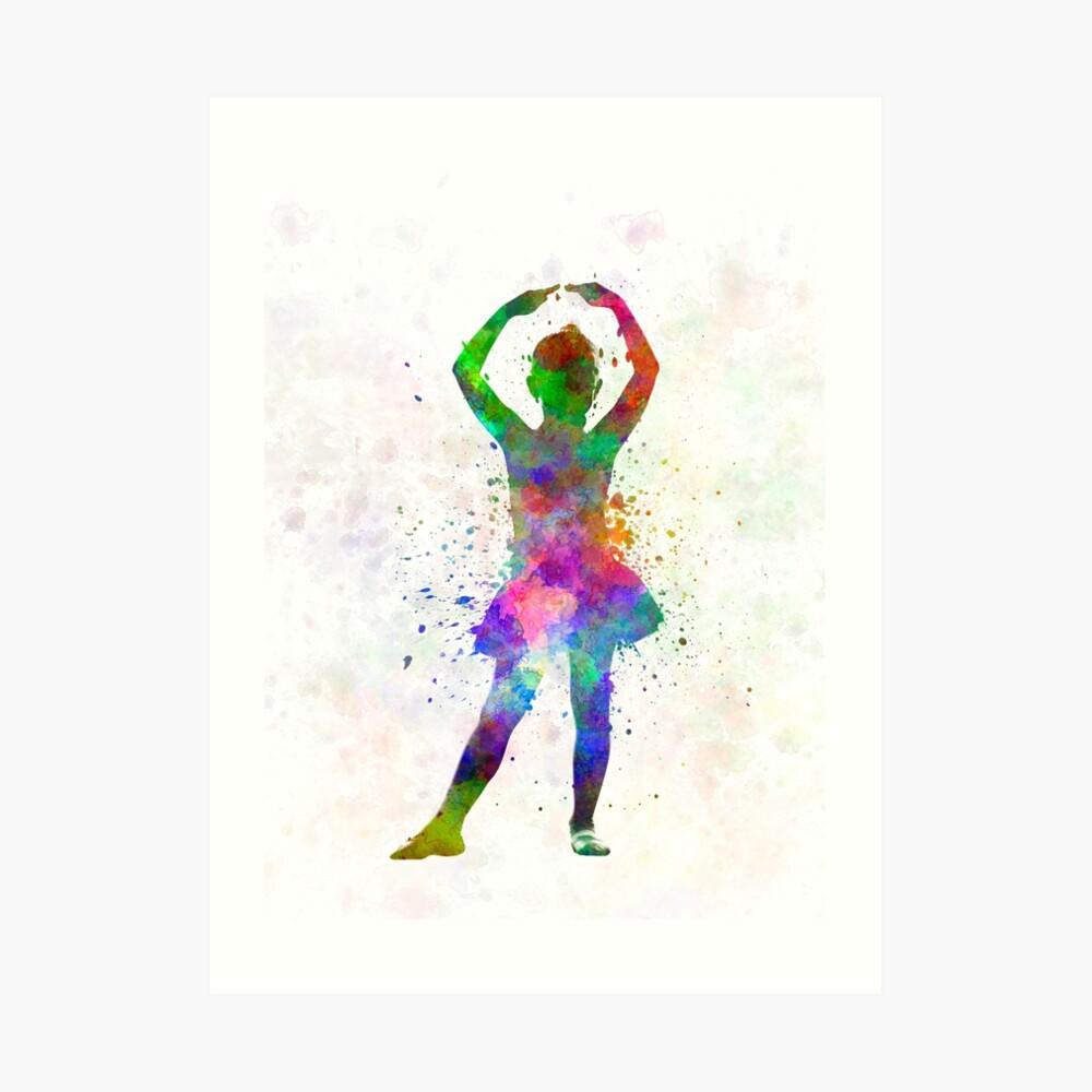 Ballerina-Balletttänzertanzen des kleinen Mädchens Kunstdruck