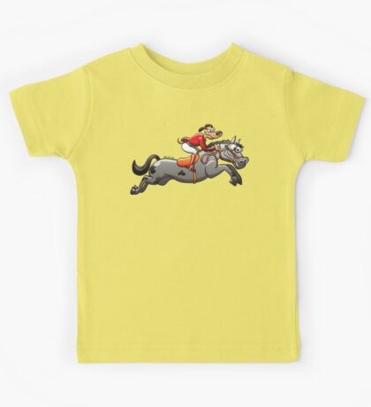 Equestrian Jumping Dog Riding a Horse Kids Clothes