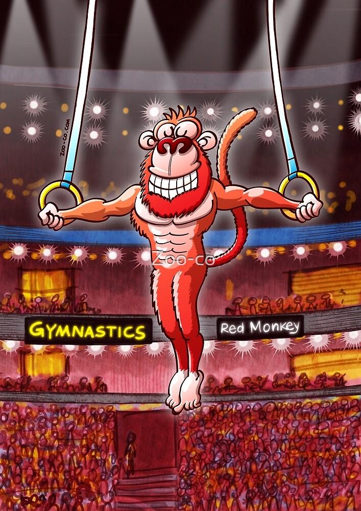 Flying Rings Monkey by Zoo-co