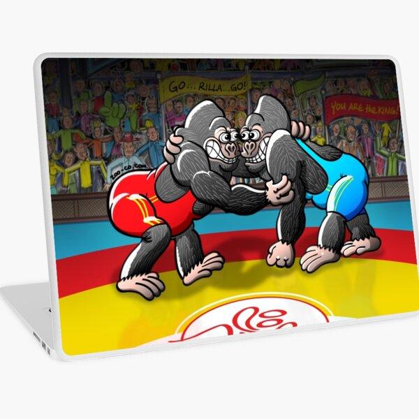 Wrestling Gorillas Laptop Skin