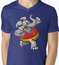Shot Put Elephant V-Neck T-Shirt