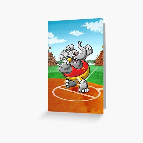 Shot Put Elephant Greeting Card