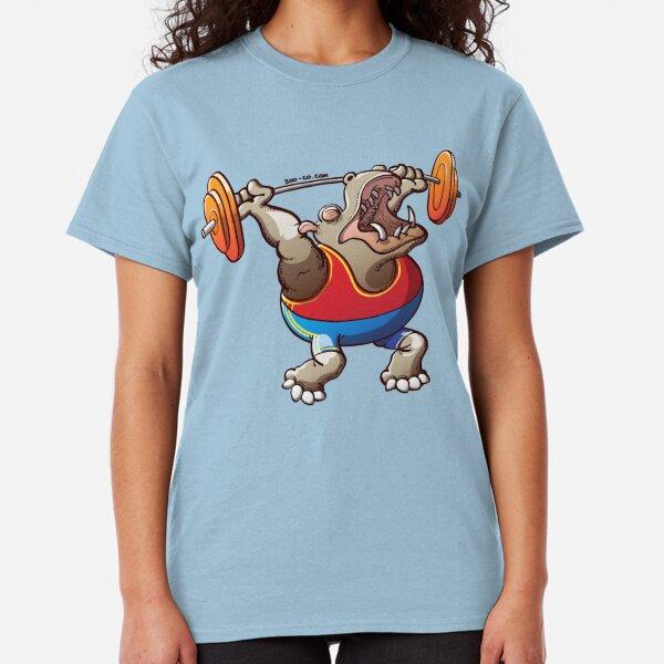 Weightlifting Hippopotamus Classic T-Shirt
