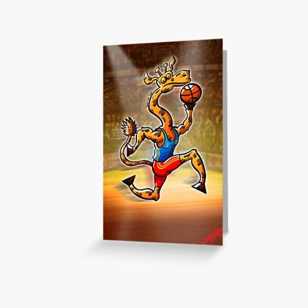 Basketball Giraffe Greeting Card