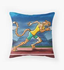 Runner Cheetah Throw Pillow