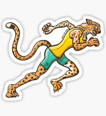 Runner Cheetah Sticker