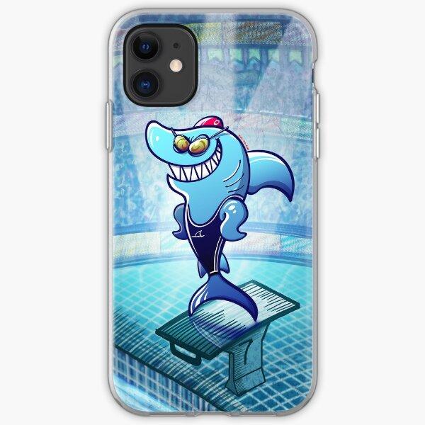 Swimmer Shark iPhone Soft Case