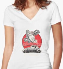 Praise The Lowered Beetle Women's Fitted V-Neck T-Shirt