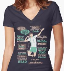 The Grand King Women's Fitted V-Neck T-Shirt
