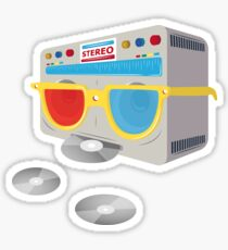 Retro player [cd] Sticker