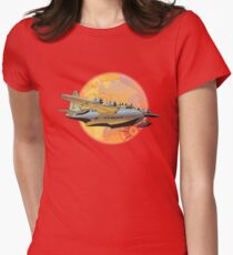 Retro seaplane Womens Fitted T-Shirt