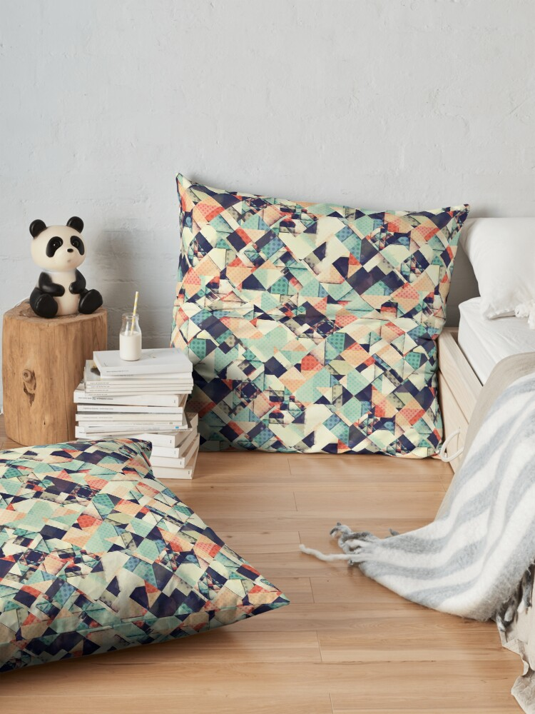 Alternate view of Jumble of Colors And Texture Floor Pillow