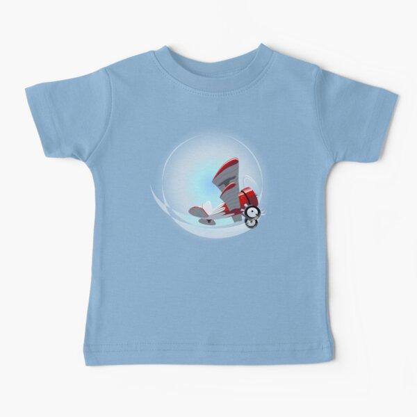 Cartoon Biplane Baby T-Shirt