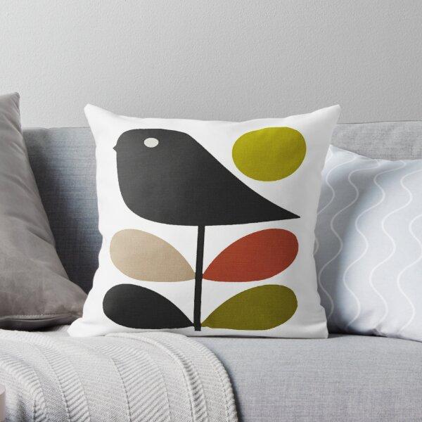 orla kiely- stem flower,bird Throw Pillow