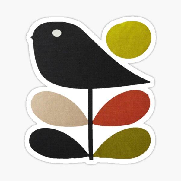 Orla Kiely- tige fleur, oiseau Sticker