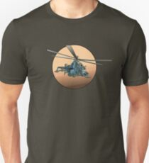 Cartoon Military Helicopter T-Shirt