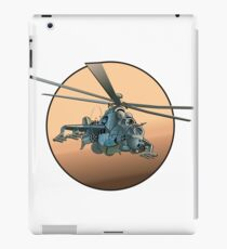 Cartoon Military Helicopter iPad Case/Skin