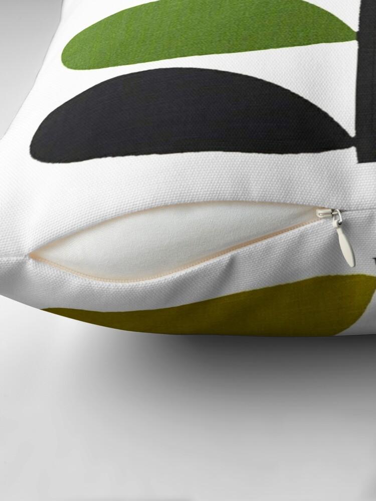 Alternate view of orla kiely- stem flower,bird Throw Pillow